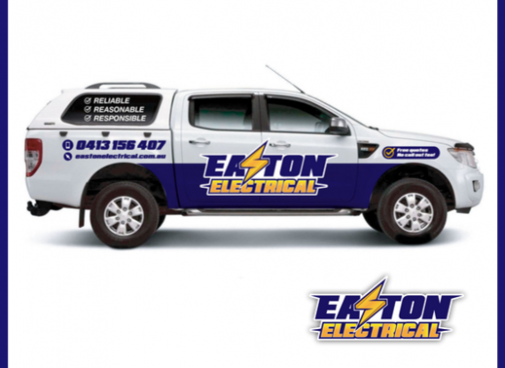 Easton Electrical new car signage